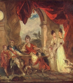 Sketch for 'The 4th Duke of Marlborough and his Family'