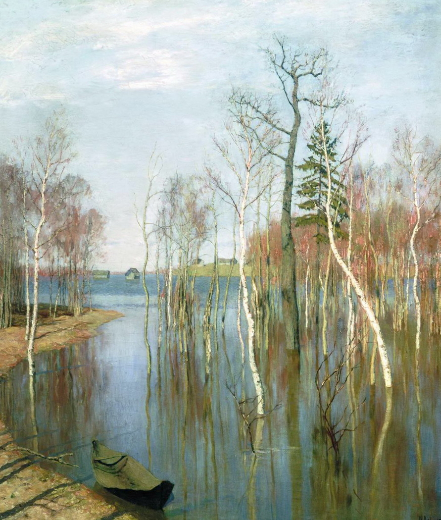 Picture Levitan Spring. High water or Edge, reminiscent of paradise 20