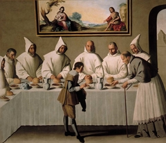 St. Hugh in the refectory of the Carthusians