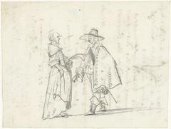 Staande man en vrouw in gesprek