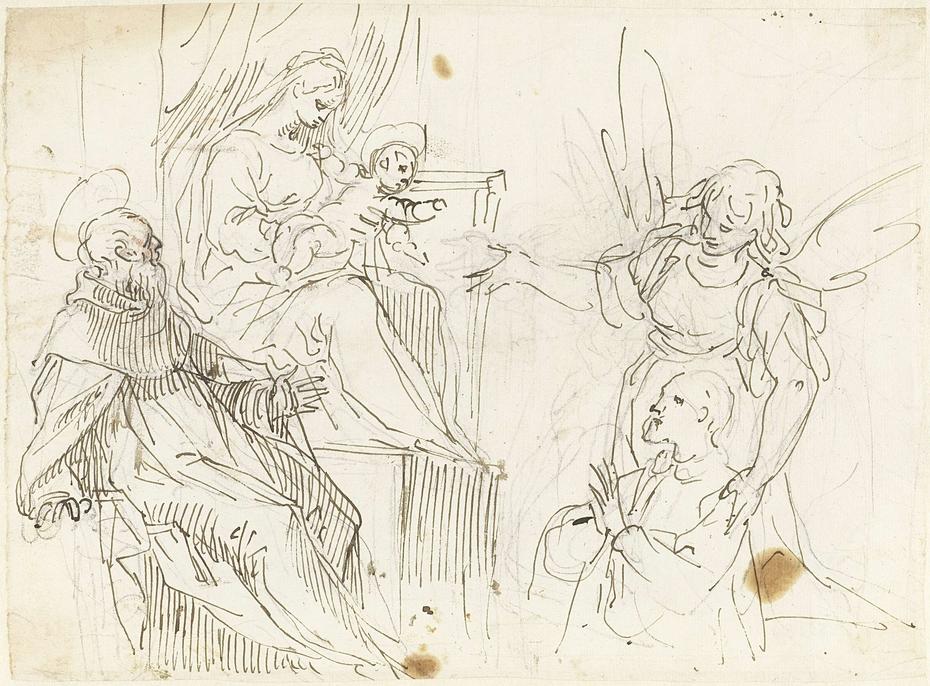 Stichter bij Maria en het Kind