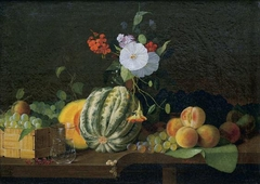 Still life. Flowers and fruits