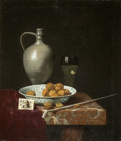 Still Life with a Pipe, Nuts, a Pitcher and a Tobacco Pouch