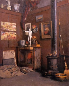 Studio Interior with a Stove (Intérieur d'atelier au poéle)
