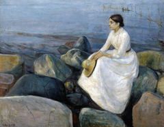 Summer Night. Inger on the Beach