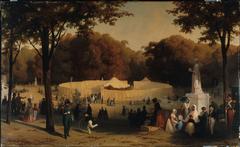 Tente du chef de l'armée marocaine (Sidi-Mohammed ben Abd-el-Rahman, fils de l'empereur du Maroc), prise à la bataille de l'Isly, le 14 août 1844, et exposée au jardin des Tuileries