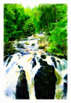 The Black Linn Falls near Dunkeld