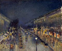The Boulevard Montmartre at Night - Boulevard Montmartre, Effet de Nuit