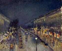 The Boulevard Montmartre at Night - Boulevard Montmartre, Effet de Nuit