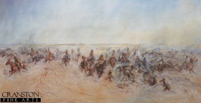 The Charge of the Warwickshire and Worcestershire Yeomanry at Huj