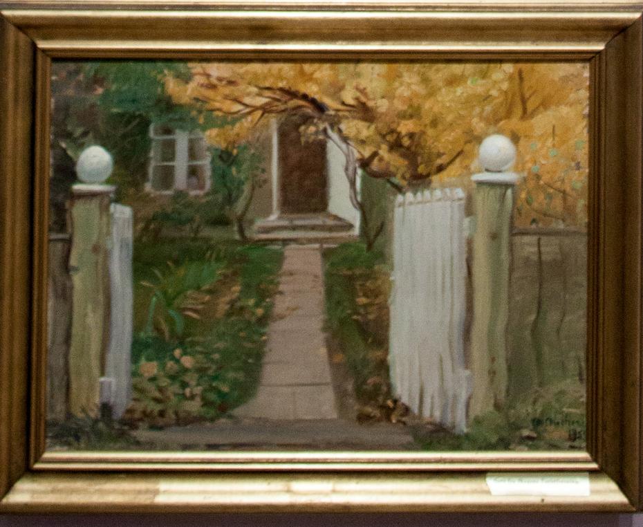 The entrance to our garden