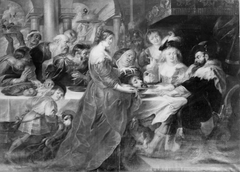The Feast of Herod. Salome Bringing the Head of St John the Baptist on a Charger