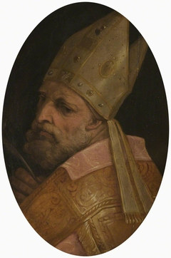 The Head of a Bishop (possibly St Ambrose or St Donato)