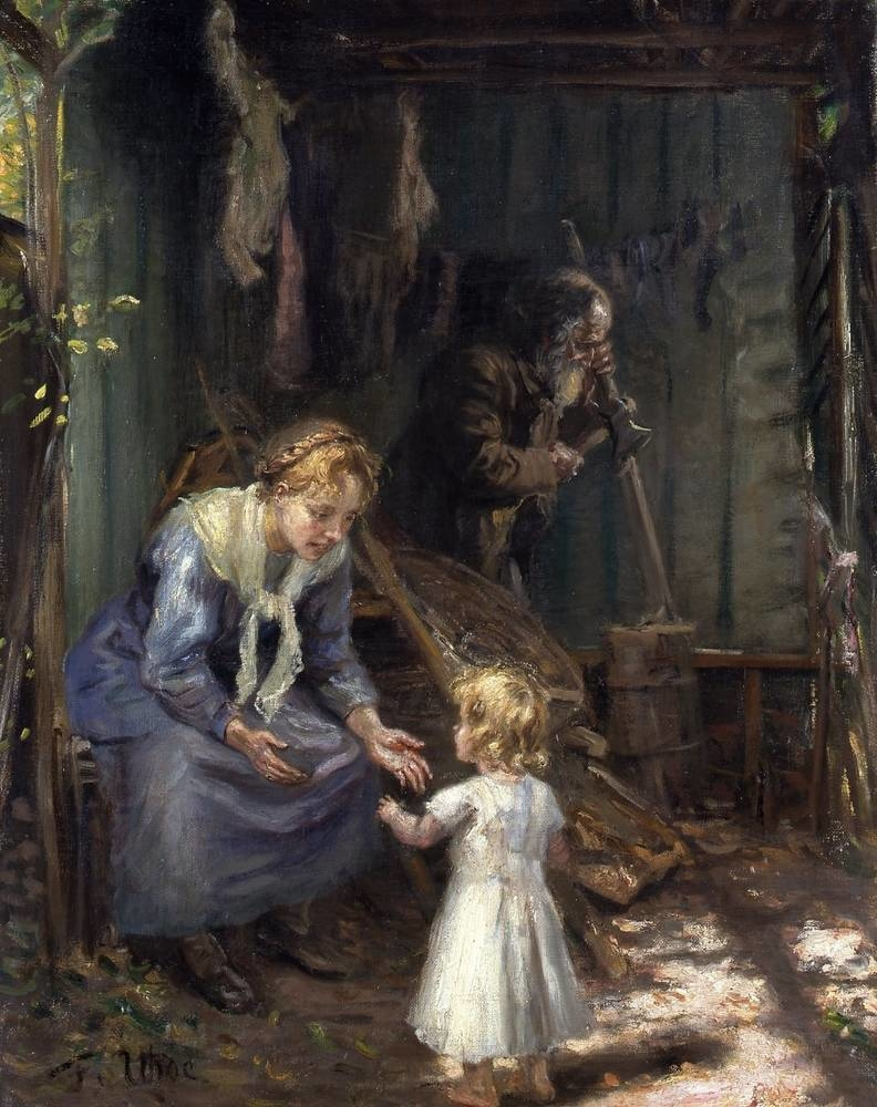 The Holy Family in the workshop