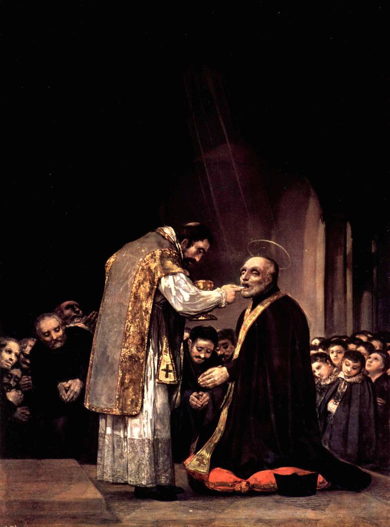 The last communion of St Joseph of Calasanz
