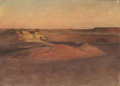 The Libyan Desert, Sunset