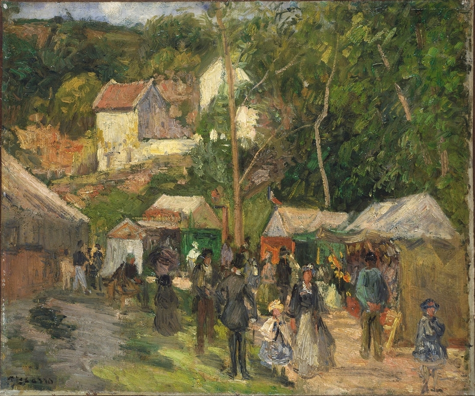 The Village Fête at L'Hermitage, the Open-Air Stalls