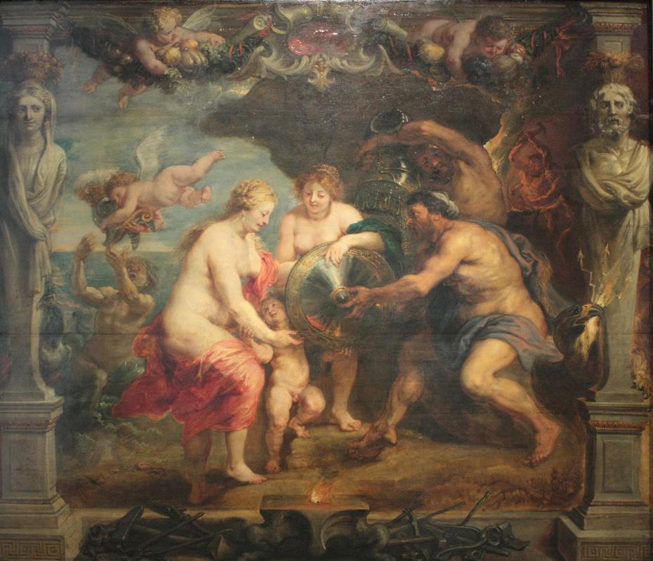 Thétis recevant de Vulcain les armes d'Achille