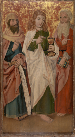 Three Apostles with Cross-Cutter, Chalice and Book