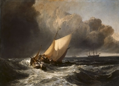 Dutch Boats in a Gale