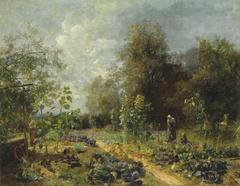 Vegetable garden in Plankenberg in September
