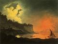 Vesuvius from Posillipo by Moonlight