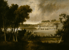 View of the Fairmount Waterworks, Philadelphia, from the Opposite Side of the Schuylkill River