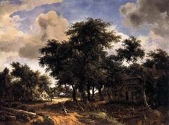 Village Street under Trees