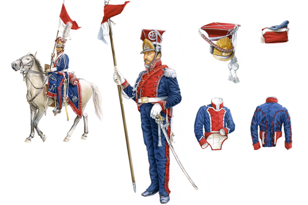 WATERLOO, NAPOLEON'S IMPERIAL GUARD, THE POLISH LANCERS