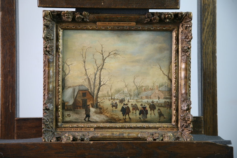 Winter Scene with Ice Skaters