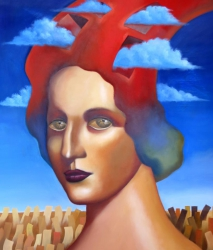 Woman with Clouds