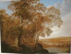 Wooded Landscape with Deer Hunt