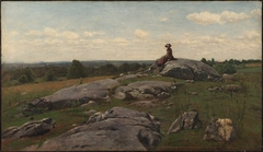 Young Girl in a Rocky Field