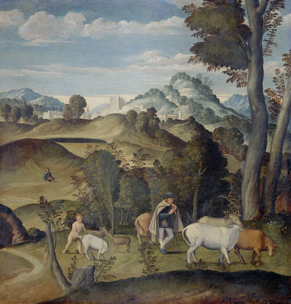 Young Mercury Stealing Cattle from Apollo's Herd