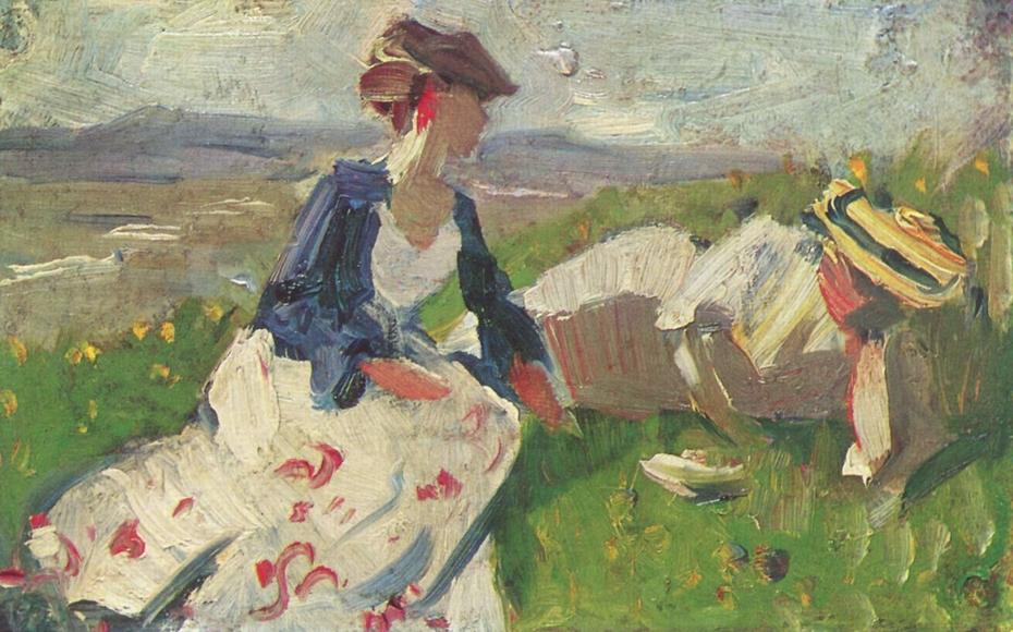 Zwei Frauen am Berg
